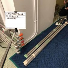 冷却水配管の復旧工事